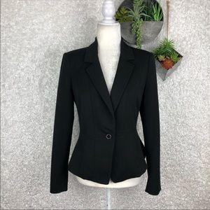 WHBM Black One Button Blazer | 2